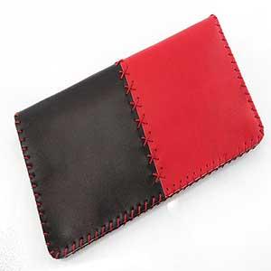 1 4 - کیف چرم طبیعی دو رنگ دست دوز زنانه Z57