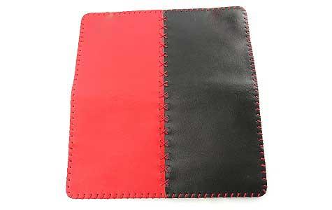 2 4 - کیف چرم طبیعی دو رنگ دست دوز زنانه Z57