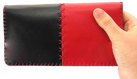 3 4 - کیف چرم طبیعی دو رنگ دست دوز زنانه Z57