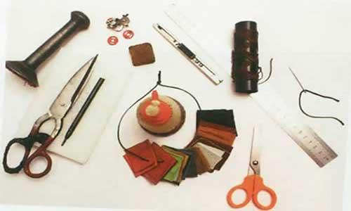 tools working leather - وسایل مورد نیاز برای کار با چرم